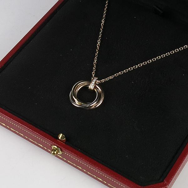 Cartier(까르띠에) B7058700 5포인트 다이아 삼색 트리니티 팬던트 목걸이 [강남본점] 이미지2 - 고이비토 중고명품