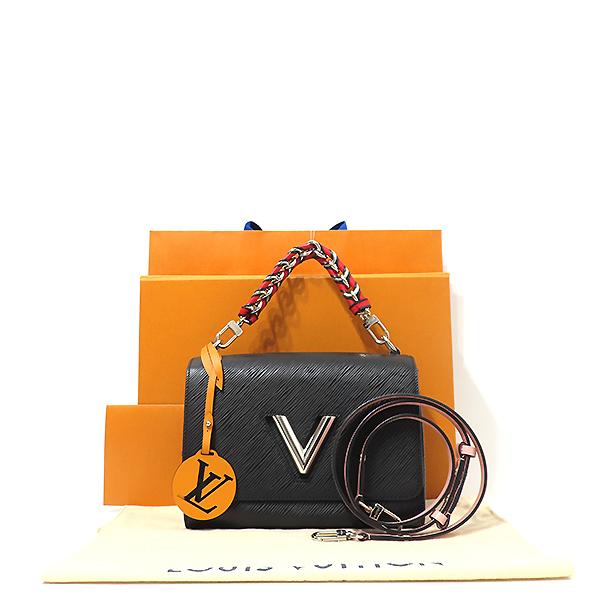 Louis Vuitton(루이비통) M52503 블랙 에삐 레더 트위스트 MM 체인 토트백 + 숄더스트랩 [부산서면롯데점]