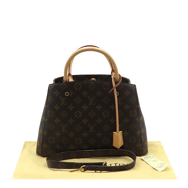 Louis Vuitton(루이비통) M41056 몽테뉴 모노그램 캔버스 MM 토트백 + 숄더스트랩 2WAY [대전갤러리아점]