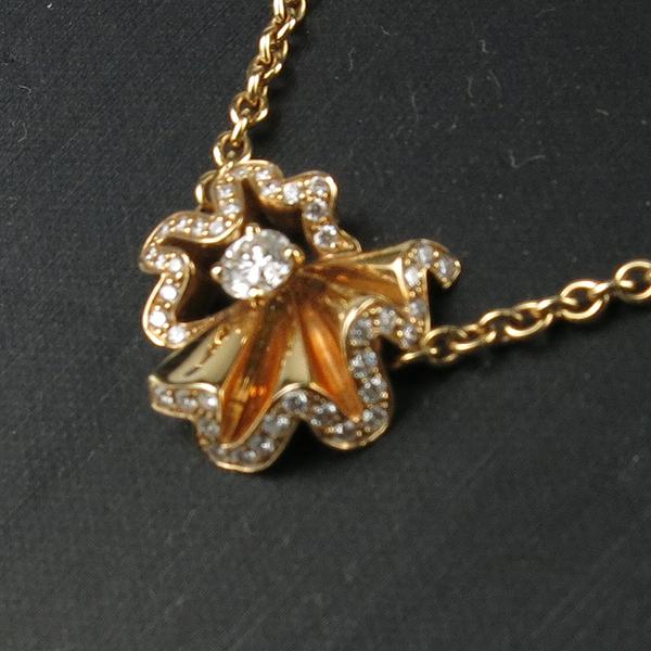 Dior(크리스챤디올) JCOU95002 ARCHI DIOR COCOTTE 컬렉션 18k(750) 핑크 골드 다이아몬드 목걸이 [강남본점] 이미지3 - 고이비토 중고명품