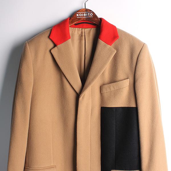 GIVENCHY(지방시) 울 혼방 베이지 컬러 레드/네이비 배색 남성용 코트 [강남본점] 이미지2 - 고이비토 중고명품