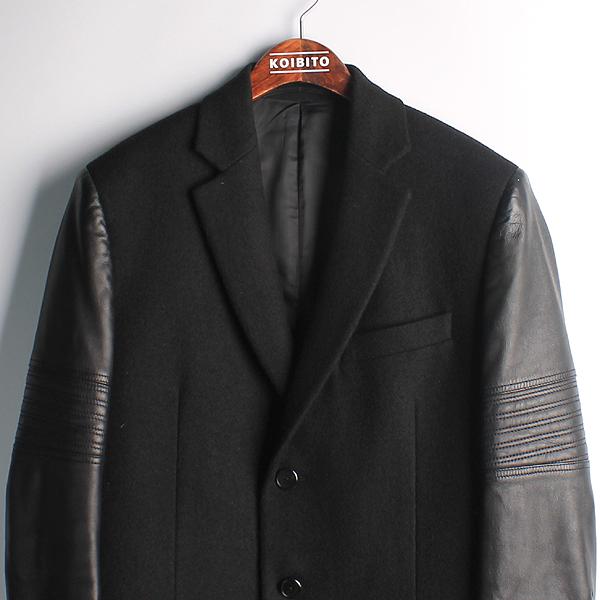 GIVENCHY(지방시) 15f 0100 슬리브 레더 체스터 남성용 롱 코트 [강남본점] 이미지2 - 고이비토 중고명품