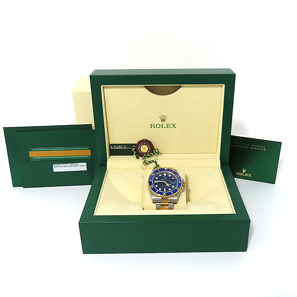 Rolex(로렉스) 116613LB 18K 콤비 SUBMARINER 서브마리너 썬레이 청판 다이얼 남성용 시계 [대전본점]