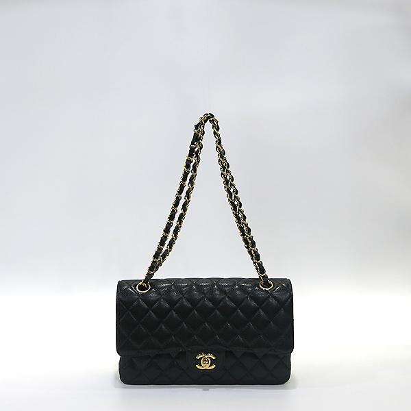 Chanel(샤넬) A01112Y01864 캐비어스킨 블랙 클래식 미듐 M사이즈 금장 체인 숄더백 [부산센텀본점] 이미지2 - 고이비토 중고명품