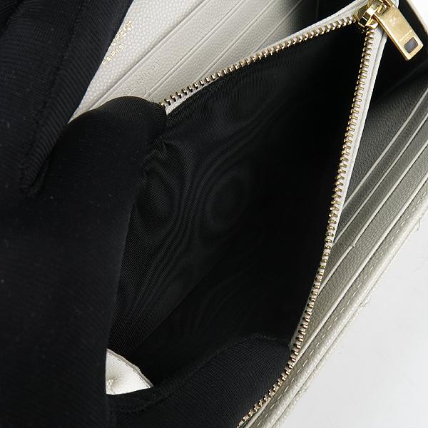 SAINT LAURENT PARIS(생로랑파리) 372264 아이보리 캐비어 금장 마트라쎄 모노그램 장지갑 [강남본점] 이미지5 - 고이비토 중고명품