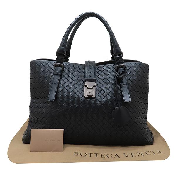 BOTTEGAVENETA(보테가베네타) 171265 블랙 컬러 인트레치아토 레더 로마 라지 사이즈 토트백 [인천점]