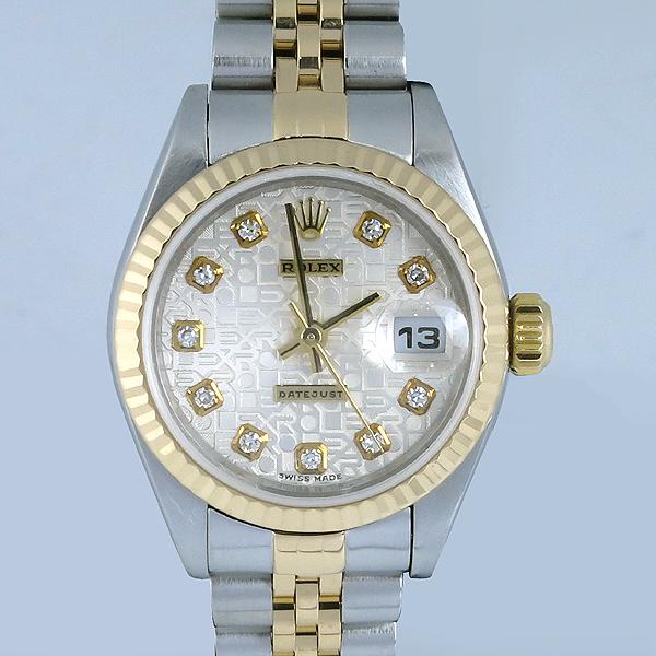 Rolex(로렉스) 79173 18K 콤비 10포인트 다이아 컴퓨터판 DATE JUST(데이트 저스트) 여성용 시계 [강남본점] 이미지2 - 고이비토 중고명품