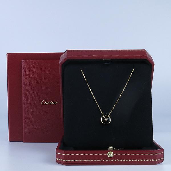 Cartier(까르띠에) 18K 골드 1포인트 다이아 블랙 오닉스 아뮬레뜨 목걸이 [강남본점]