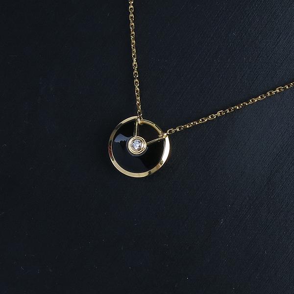 Cartier(까르띠에) 18K 골드 1포인트 다이아 블랙 오닉스 아뮬레뜨 목걸이 [강남본점] 이미지3 - 고이비토 중고명품