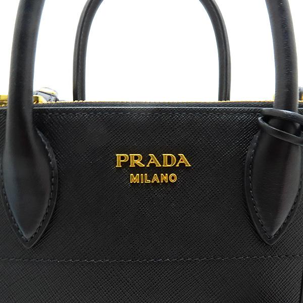 Prada(프라다) 1BA103 SAFFIANO 사피아노 블랙 파라디그마 금장 로고 토트백 + 숄더스트랩 2WAY [인천점] 이미지3 - 고이비토 중고명품