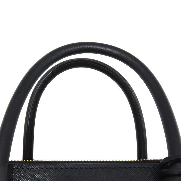 Prada(프라다) 1BA103 SAFFIANO 사피아노 블랙 파라디그마 금장 로고 토트백 + 숄더스트랩 2WAY [인천점] 이미지4 - 고이비토 중고명품