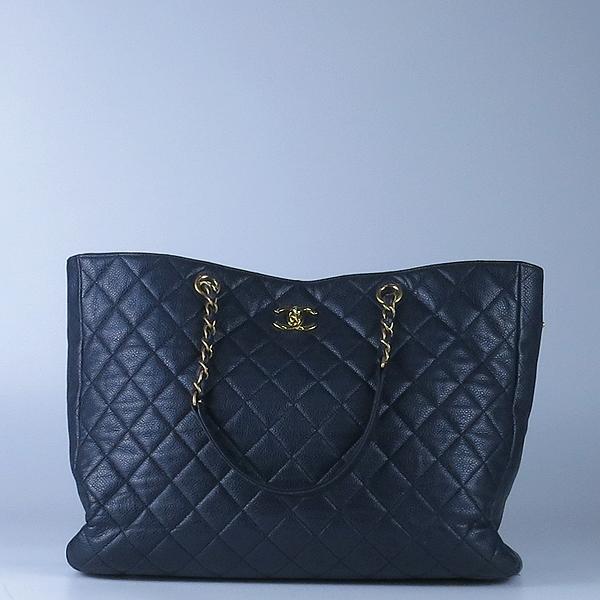 Chanel(샤넬) A91046 캐비어스킨 블랙 퀼팅 금장 로고 장식 타임리스 쇼핑 체인 숄더백 [강남본점] 이미지2 - 고이비토 중고명품