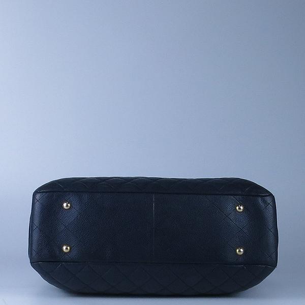 Chanel(샤넬) A91046 캐비어스킨 블랙 퀼팅 금장 로고 장식 타임리스 쇼핑 체인 숄더백 [강남본점] 이미지4 - 고이비토 중고명품