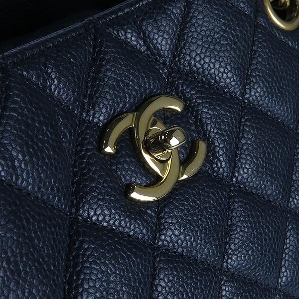 Chanel(샤넬) A91046 캐비어스킨 블랙 퀼팅 금장 로고 장식 타임리스 쇼핑 체인 숄더백 [강남본점] 이미지5 - 고이비토 중고명품