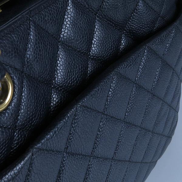 Chanel(샤넬) A91046 캐비어스킨 블랙 퀼팅 금장 로고 장식 타임리스 쇼핑 체인 숄더백 [강남본점] 이미지6 - 고이비토 중고명품