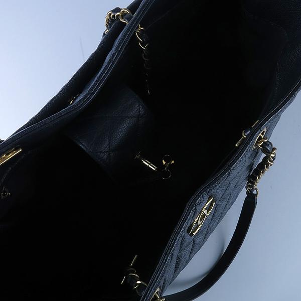 Chanel(샤넬) A91046 캐비어스킨 블랙 퀼팅 금장 로고 장식 타임리스 쇼핑 체인 숄더백 [강남본점] 이미지7 - 고이비토 중고명품