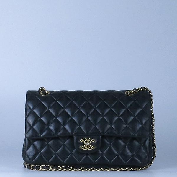 Chanel(샤넬) 금장 COCO 로고 블랙 컬러 램스킨 클래식 M 미듐 사이즈 체인 숄더백 [강남본점] 이미지2 - 고이비토 중고명품