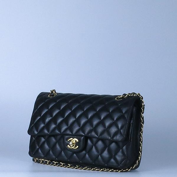 Chanel(샤넬) 금장 COCO 로고 블랙 컬러 램스킨 클래식 M 미듐 사이즈 체인 숄더백 [강남본점] 이미지3 - 고이비토 중고명품