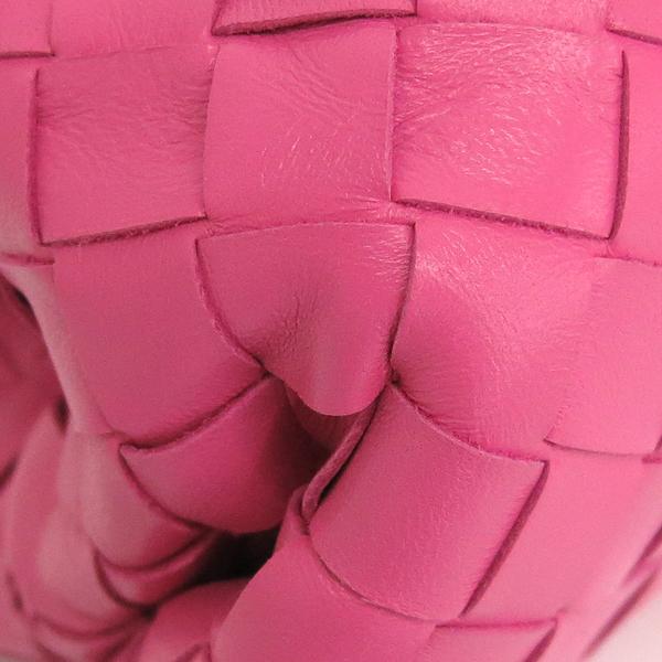 BOTTEGAVENETA(보테가베네타) 576175 VCPP05608 핑크 컬러 인트레치아토 나파 레더 클러치 [동대문점] 이미지4 - 고이비토 중고명품