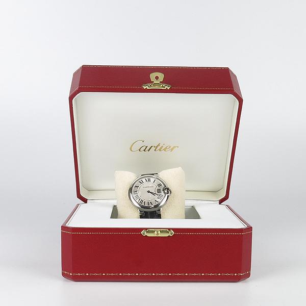 Cartier(까르띠에) W69017Z4 발롱블루 드 까르띠에 오토매틱 36MM 가죽밴드 시계 [강남본점]