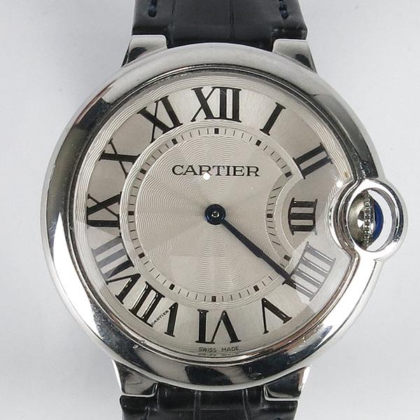 Cartier(까르띠에) W69017Z4 발롱블루 드 까르띠에 오토매틱 36MM 가죽밴드 시계 [강남본점] 이미지2 - 고이비토 중고명품