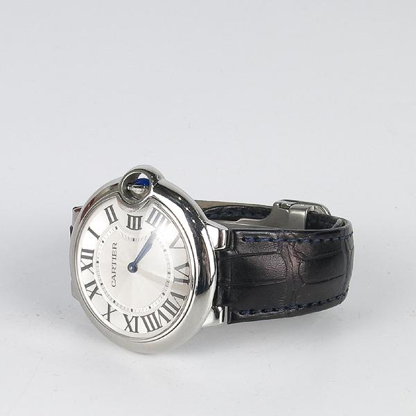 Cartier(까르띠에) W69017Z4 발롱블루 드 까르띠에 오토매틱 36MM 가죽밴드 시계 [강남본점] 이미지3 - 고이비토 중고명품