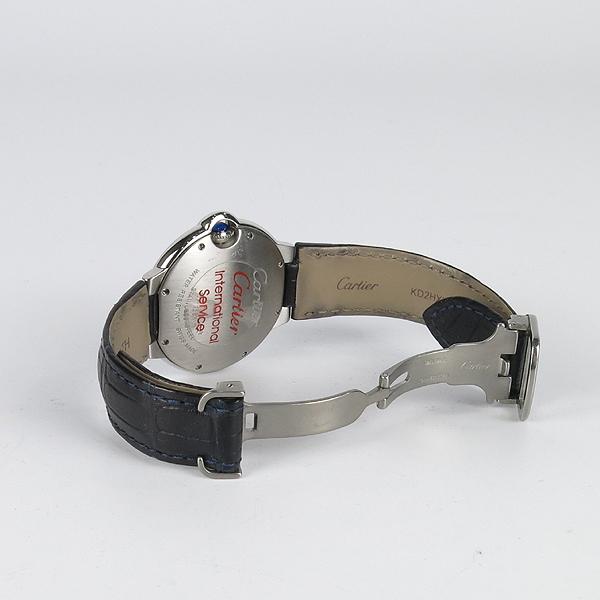 Cartier(까르띠에) W69017Z4 발롱블루 드 까르띠에 오토매틱 36MM 가죽밴드 시계 [강남본점] 이미지4 - 고이비토 중고명품