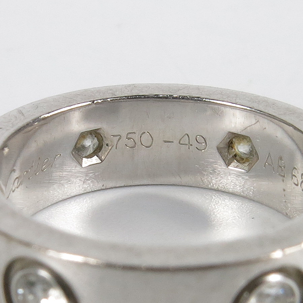 Cartier(까르띠에) 18K 화이트골드 6포인트 다이아 러브 반지 - 9호 [강남본점] 이미지3 - 고이비토 중고명품