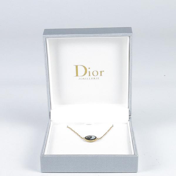 Dior(크리스챤디올) JSAM95001 18K 옐로우 골드 & 화이트골드 문 & 선 오닉스 다이아 체인 팔찌 [강남본점]